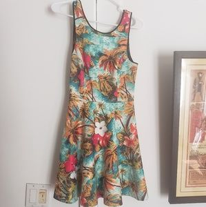 Tropical Skater Dress